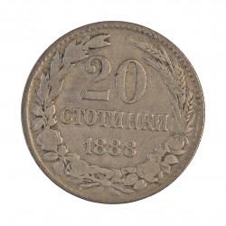 Bulgaria 20  Stotinki. 1888. CUNI. 5gr. Ø21mm. MBC-. KM. 11