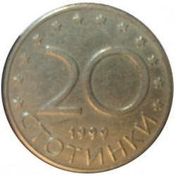 Bulgaria 20  Stotinki. 1999. CUNI. 3,96gr. (Jinete de Madara). Ø20mm. MBC+. KM. 241
