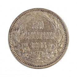 Bulgaria 50 Stotinki. 1883. AG. 2,5gr. Ley:0,835. Ø18mm. MBC+. KM. 6