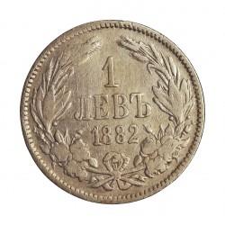 Bulgaria 1 Leva. 1882. AG. 5gr. Ley:0,835. Ø22mm. MBC-. KM. 4