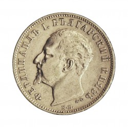 Bulgaria 1 Leva. 1884. KB. AG. 5gr. Ley:0,835. Ø22mm. MBC+/EBC-. KM. 16