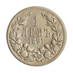 Bulgaria 1 Leva. 1891. KB. AG. 5gr. Ley:0,835. Ø22mm. BC+/MBC-. KM. 13