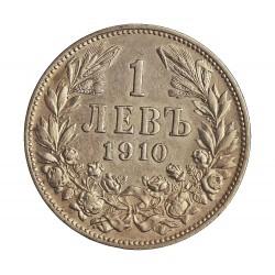 Bulgaria 1 Leva. 1910. AG. 5gr. Ley:0,835. Ø22mm. EBC/EBC+. KM. 28