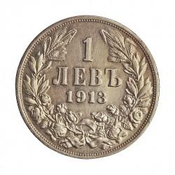Bulgaria 1 Leva. 1913. AG. 5gr. Ley:0,835. Ø22mm. EBC+/SC-. KM. 31