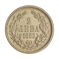 Bulgaria 2 Leva. 1882. AG. 10gr. Ley:0,836. Ø27mm. EBC-/MBC+. KM. 5