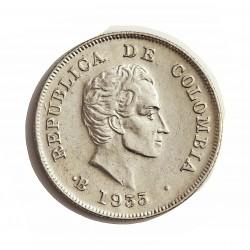 Colombia 20  Ctvo.  1933. Bogota. (Ceca en Anverso). AG. 5gr. Ley:0,900. (S.Bolivar). Ø23mm. EBC/EBC+. KM. 197