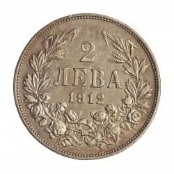 Bulgaria 2 Leva. 1912. AG. 10gr. Ley:0,835. Ø27mm. EBC+/EBC. KM. 32
