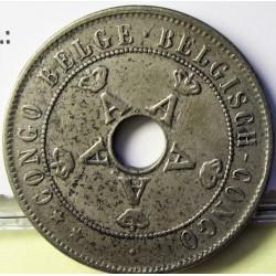 Congo Belga-(1909/1960) 20 Cts. 1910. CUNI. 5,92gr. Ø25,1mm. MBC+. KM. 19