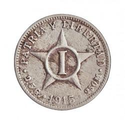 Cuba 1 Ctvo. 1915. CUNI. 2,5gr. (Tipo Estrella). Ø17mm. MBC-. KM. 9.1