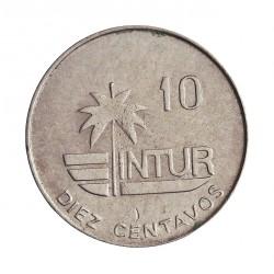 Cuba 10 Ctvo. 1981. NI. 3,87gr. (10 Intur)-(Inst.Nal.de Turismo). Ø21mm. SC-. KM. 414