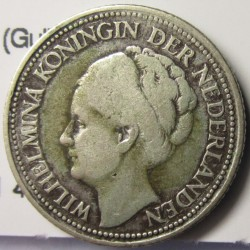 Curaçao ¼ Gulden. 1947. Utrech. AG. 3,58gr. Ley:0,640. (Guillermina). Ø18mm. MBC-. KM. 44