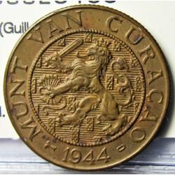 Curaçao 2,5 Cent. 1944. D-(Denver). CU. 4gr. (Guillermina). Ø23mm. EBC+. KM. 42