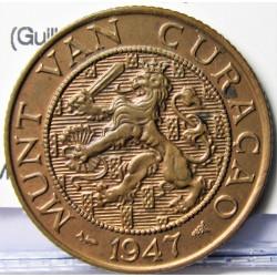 Curaçao 2,5 Cent. 1947. (U)Utrech. CU. 4gr. (Guillermina). Ø23mm. SC-/SC. KM. 42
