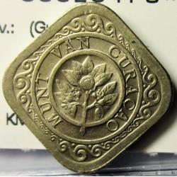 Curaçao 5 Cent. 1948. CUNI. 3,58gr. (Guillermina). (18x18mm)-(Cuadrangular). EBC+. KM. 47