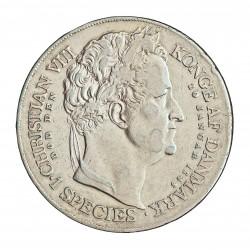 Dinamarca Speciedaler. 1848. (Copenhage). FK. AG. 28,893gr. Ley:0,875. Ø37mm. MBC+/MBC. MUY ESCASO/A. KM. 742