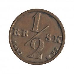 Dinamarca ½ Rigsbankskilling. 1852. CU. 3,66gr. Ø17,5mm. MBC+. KM. 753