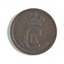 Dinamarca 1 Ore. 1897. (Copenhage). VBP. AE. 2gr. Ley:0,000. Ø16mm. MBC+. KM. 792.2
