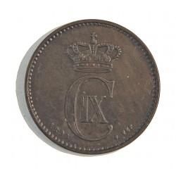 Dinamarca 2 Ore. 1874. (Copenhage). CS. AE. 4gr. Ley:0,000. Ø20,5mm. MBC+. ESCASO/A. KM. 793.1