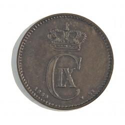 Dinamarca 2 Ore. 1889. (Copenhage). CS. AE. 4gr. Ley:0,000. Ø20,5mm. MBC/MBC+. MUY ESCASO/A. KM. 793.1