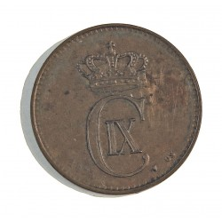 Dinamarca 2 Ore. 1899. (Copenhage). VBP. AE. 4gr. Ley:0,000. Ø20,5mm. MBC+. KM. 793.2