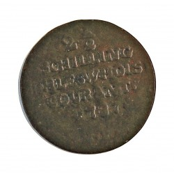 Dinamarca 2,5 Shilling. 1787. (SCHLESWIG-NORBURG). (Altona). MF. CU. 2,55gr. (2½ Shilling). Ø20mm. RC-/RC. KM. 4