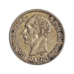 Dinamarca 10 Ore. 1910. (Copenhage). VBP-GJ. AG. 1,45gr. Ley:0,400. Ø15mm. EBC+/SC-. KM. 807