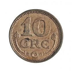 Dinamarca 10 Ore. 1916. (Copenhage). VBP-GJ. AG. 1,45gr. Ley:0,400. Ø15mm. EBC. KM. 818.1