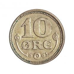 Dinamarca 10 Ore. 1919. (Copenhage). HCN-GJ. AG. 1,45gr. Ley:0,400. Ø15mm. SC-. KM. 818.2