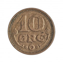 Dinamarca 10 Ore. 1921. (Copenhage). HCN-GJ. AG. 1,45gr. Ley:0,400. Ø15mm. EBC+. KM. 818.2
