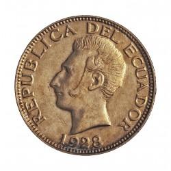 Ecuador 1 Sucre. 1928. Filadelfia. U.S.A. AG. 5gr. Ley:0,750. Ø23mm. EBC+. KM. 72