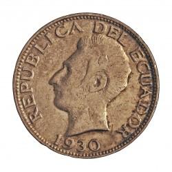 Ecuador 2 Sucre. 1930. Filadelfia. U.S.A. AG. 10gr. Ley:0,720. Ø28mm. MBC-/MBC+. KM. 73