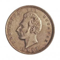 Ecuador 2 Decimo. 1912. Lima. F.G. AG. 5gr. Ley:0,900. Ø23mm. EBC-/EBC. KM. 51.3