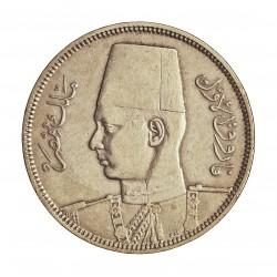 Egipto 5 Piastras. 1937. (AH.1356). AG. 7gr. Ley:0,833. Ø26mm. MBC+/EBC. KM. 366