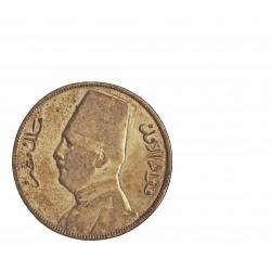 Egipto 10 Piastras. 1929. (AH.1348). AG. 14gr. Ley:0,833. Ø33mm. MBC-. KM. 350