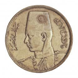 Egipto 10 Piastras. 1937. (AH.1356). AG. 14gr. Ley:0,833. Ø33mm. MBC+/EBC-. KM. 367
