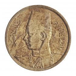 Egipto 10 Piastras. 1939. (AH.1358). AG. 14gr. Ley:0,833. Ø33mm. MBC+/EBC-. KM. 367
