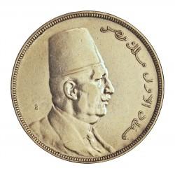 Egipto 20 Piastras. 1923. (AH.1341). AG. 28gr. Ley:0,833. (Vrte.Linea al final del gorro). Ø40mm. MBC+/EBC-. MUY ESCASO/A. KM.