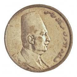 Egipto 20 Piastras. 1923. (AH.1341). AG. 28gr. Ley:0,833. Ø40mm. MBC+. MUY ESCASO/A. KM. 338
