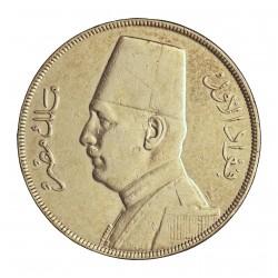Egipto 20 Piastras. 1929. (AH.1348). B.P. AG. 28gr. Ley:0,833. Ø40mm. MBC+/EBC-. KM. 352
