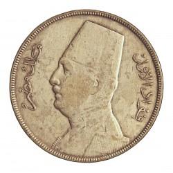 Egipto 20 Piastras. 1933. (AH.1352). AG. 28gr. Ley:0,833. Ø40mm. MBC-/MBC. KM. 352