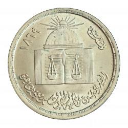 Egipto 1 Libra/Pound. 1980. AG. 15gr. Ley:0,720. (Univ.del Cairo). Ø35mm. SC. KM. 515