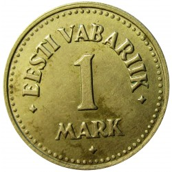 Estonia 1 Mark. 1924. NI/AE. 2,6gr. Ø18mm. EBC/EBC+. (Lev.manchita). KM. 1a