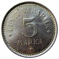 Estonia 5 Mark. 1922. CUNI. 4,7gr. Ø23mm. SC-. KM. 3