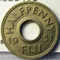 Fiji.-Islas ½ Penny. 1951. CUNI. 3,1gr. Ø21mm. EBC. KM. 16