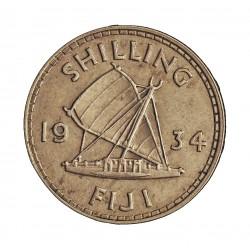 Fiji.-Islas 1 Shilling. 1934. AG. 5,66gr. Ley:0,500. Ø23mm. EBC+/EBC. KM. 4