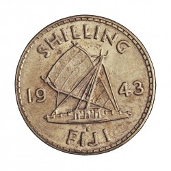 Fiji.-Islas 1 Shilling. 1943. AG. 5,655gr. Ley:0,500. Ø23mm. MBC+/EBC-. KM. 12