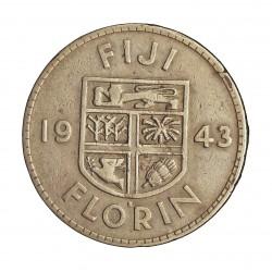 Fiji.-Islas 1 Florin. 1943. S-(St.Francisco). AG. 11,31gr. Ley:0,900. Ø28mm. MBC. KM. 13 a