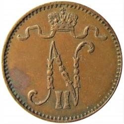 Finlandia 1 Pennia. 1909. CU. 1,28gr. Ø15mm. MBC+/EBC-. KM. 13