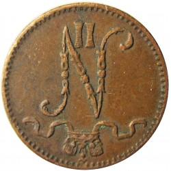 Finlandia 1 Pennia. 1913. CU. 1,28gr. Ø15mm. MBC+. (Puntito de oxid.). KM. 13