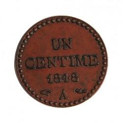 Francia 1  Cts.  1848. A-(Paris). AE. 2gr. Ø18mm. SC. (Bonito tono). RARO/A. en esta conservacion. KM. 754 - GAD. 84